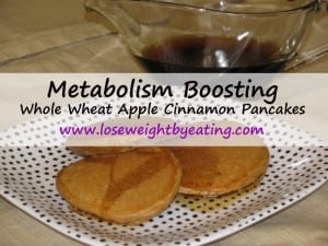 Whole Wheat Apple Cinnamon Pancakes