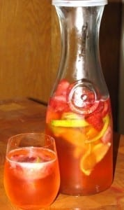 Strawberry Lime Spritzer