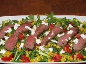 Steak House Salad with Pom Vinegrette