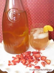 Strawberry Infused Water with Tangerines