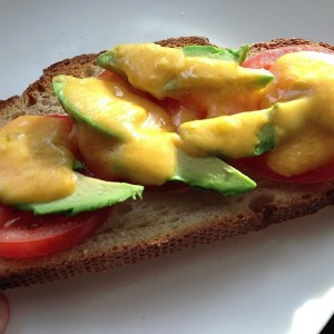 Avocado Cheese Toast with Tomatoes