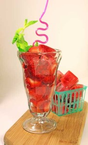 Strawberry Fruit Infused Water