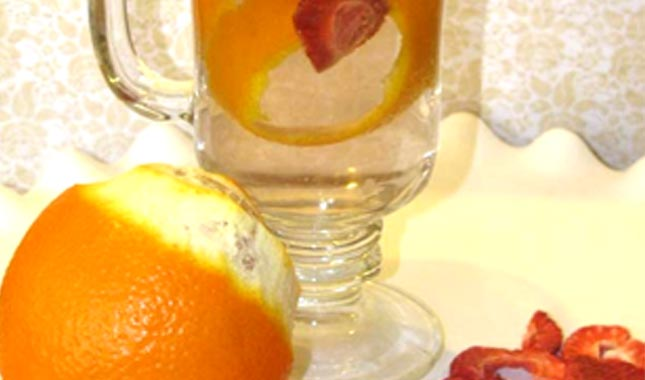 Tangerine Strawberry Infused Water