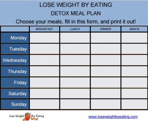 juice cleanse meal planner