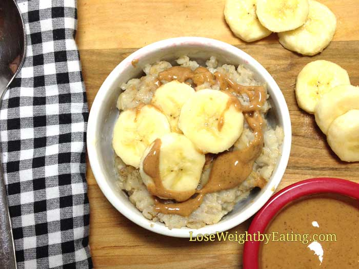 Banana and Almond Butter Oatmeal