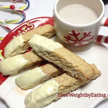 Lemon White Chocolate Biscotti