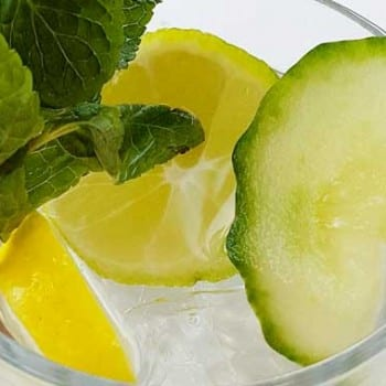 Lemon Cucumber Mint Water