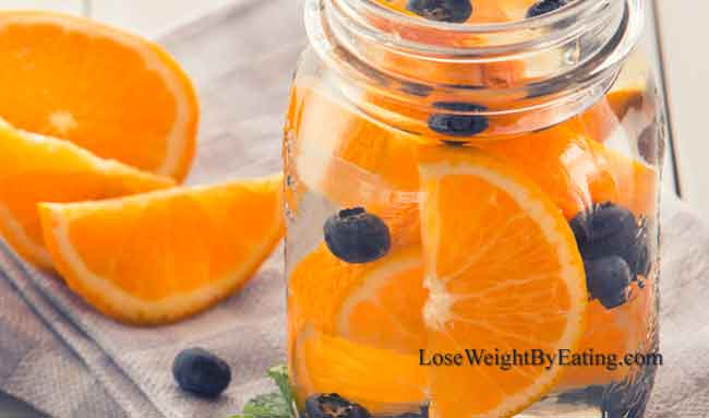 Blueberry and Orange Detox Water
