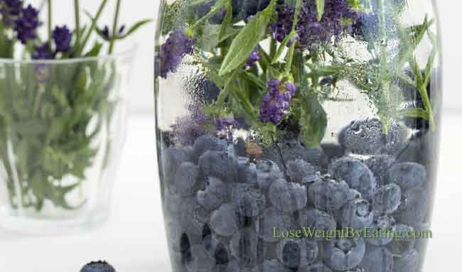 Lavender Blueberry Detox Water