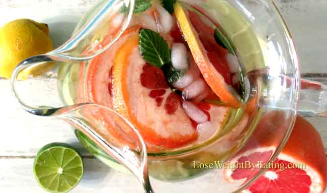 Lemon Lime Grapefruit Cucumber Mint Water