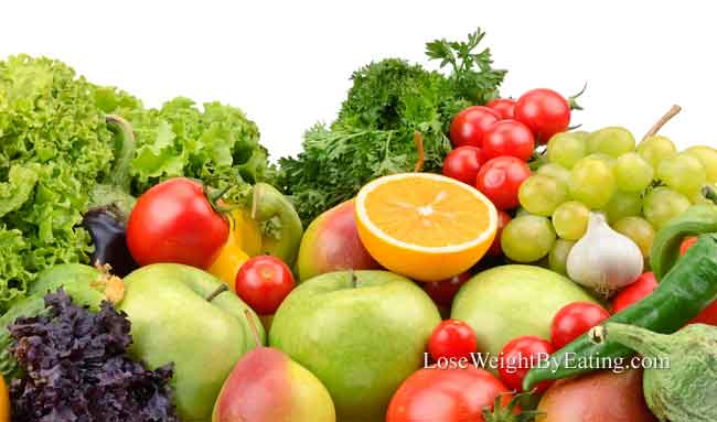 How to lose weight fruits vegetables