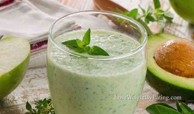 Apple Avocado ACV Smoothie