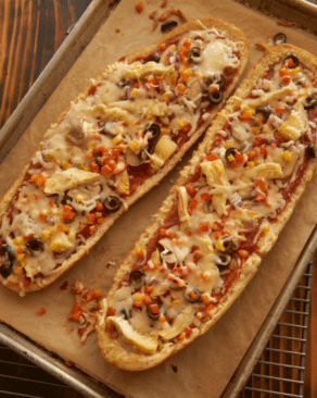 vegetarian French bread pizza