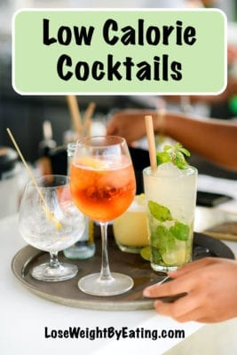 low calorie drinks at the bar