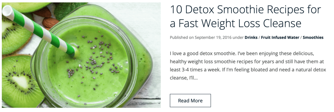10 Green Smoothie Recipes For Quick Weight Loss Lose Weight