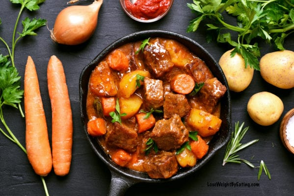 Slow Cooked Beef Stew in Crockpot