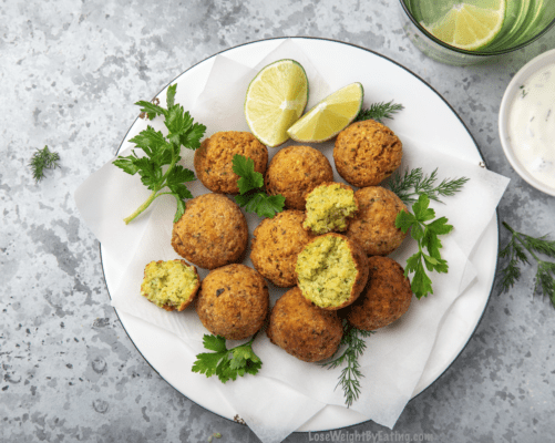 Healthy Recipe for Falafels Baked in Oven