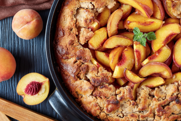 Low Calorie Recipe for Peach Cobbler