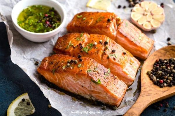 Low Calorie Recipe for Baked Salmon