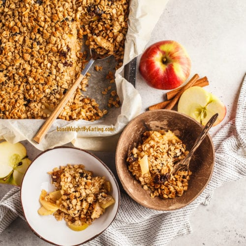 low calories recipe for apple crumble