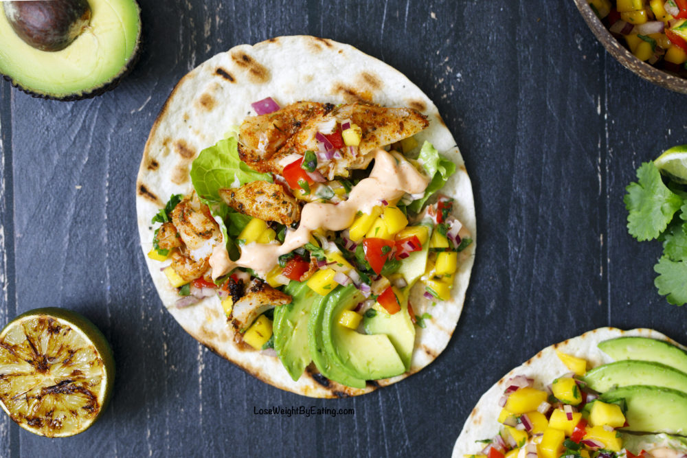The Best Fish Tacos Recipe {Grilled and Low Calorie}