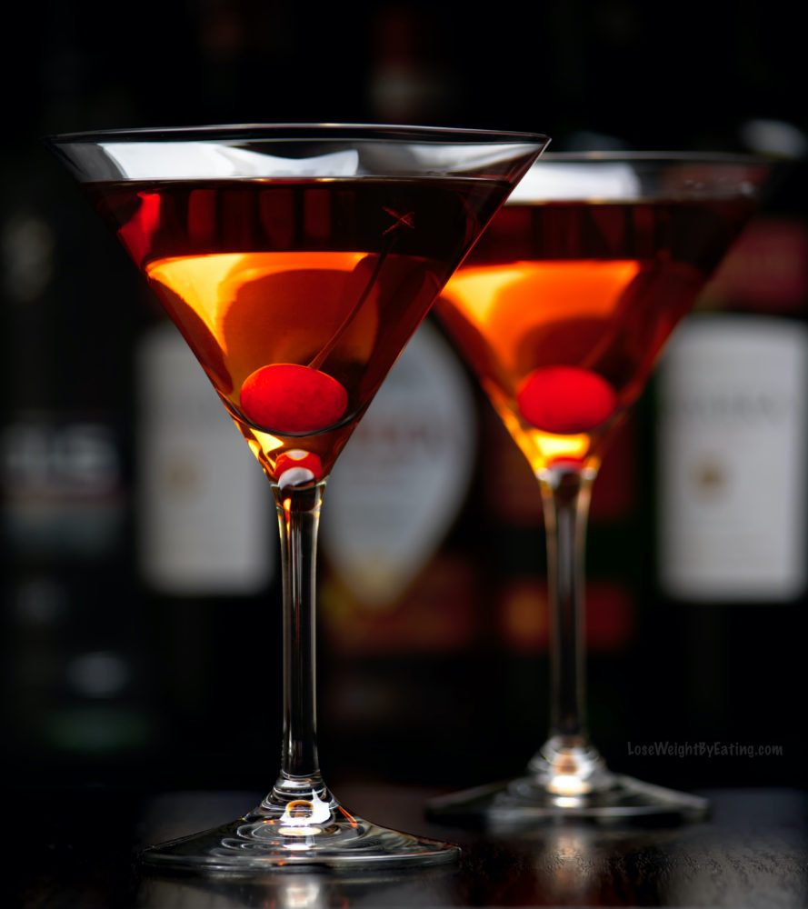 Low Calorie Recipe for Manhattan Drink Cocktails