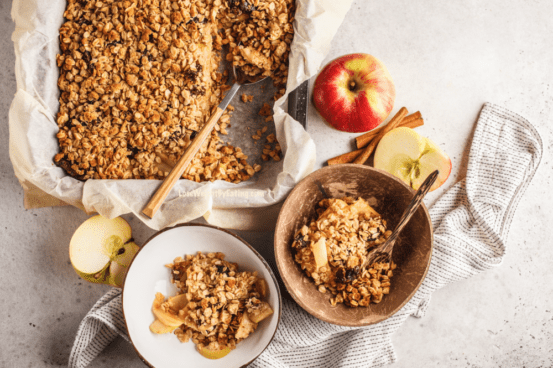low calorie recipe for apple crumble