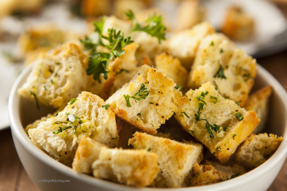 Healthy Homemade Croutons Recipe