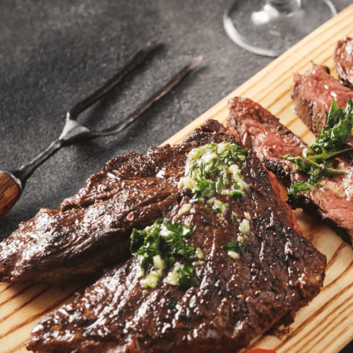 Grilled Hanger Steak Recipe with Chimichurri Sauce