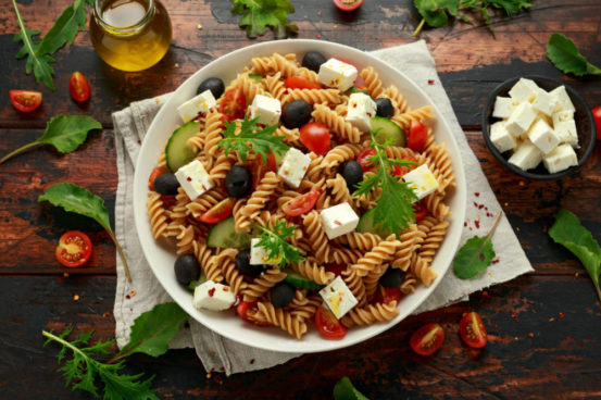 Healthy Recipe for Greek Pasta Salad with Feta Cheese
