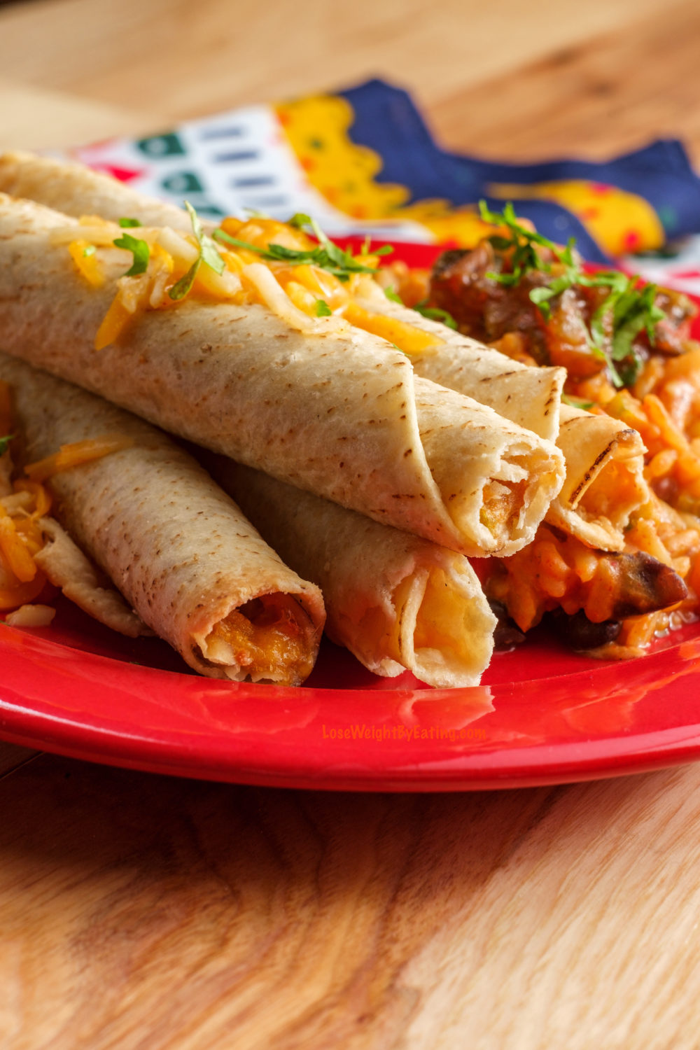 Air Fryer Taquitos with Chicken and Cheese