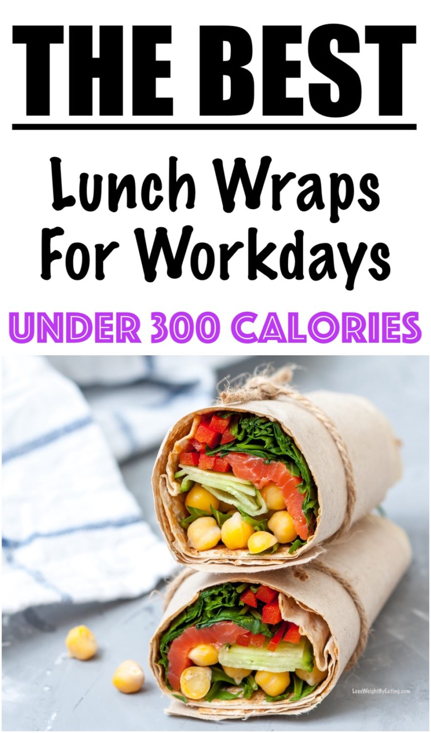 Healthy Lunch Wrap Recipe With Chickpeas