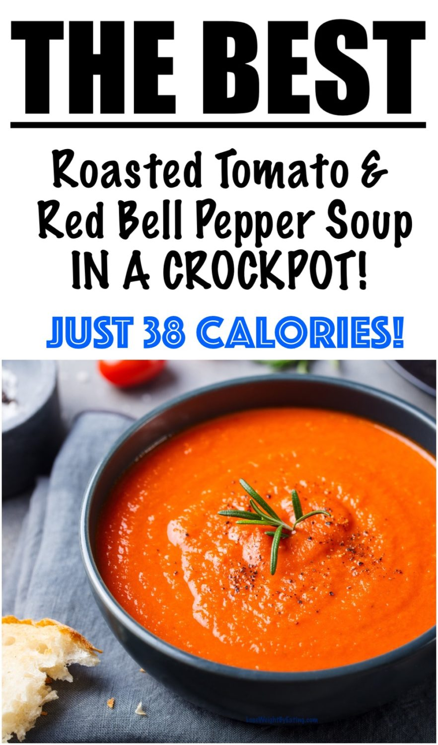 Red Bell Pepper Tomato Soup in the Crock Pot
